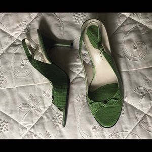 Franco Sarto size 9.5 leather heels!  Adjustable!